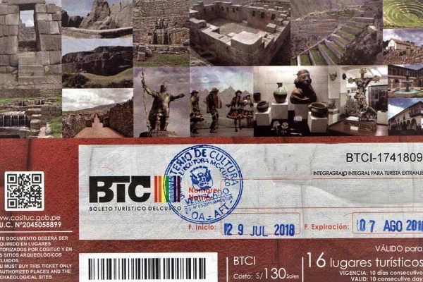 Cusco Tourist Tickets